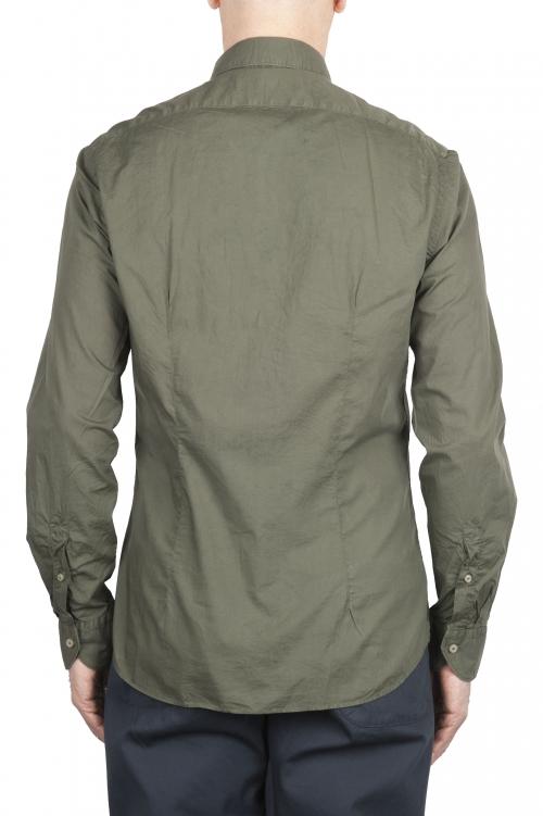 SBU 01610 Camicia in cotone super leggero verde 01