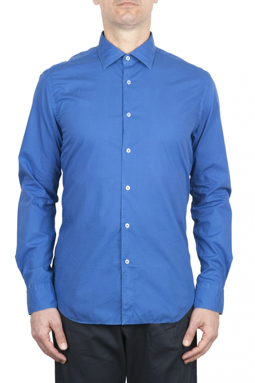 SBU 01611 China blue super light cotton shirt 01