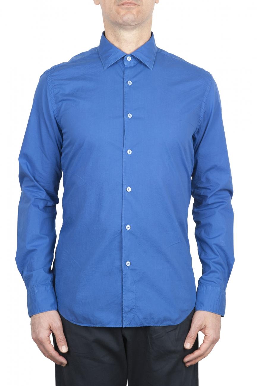 SBU 01611 Chemise bleu Chine en coton super léger 01