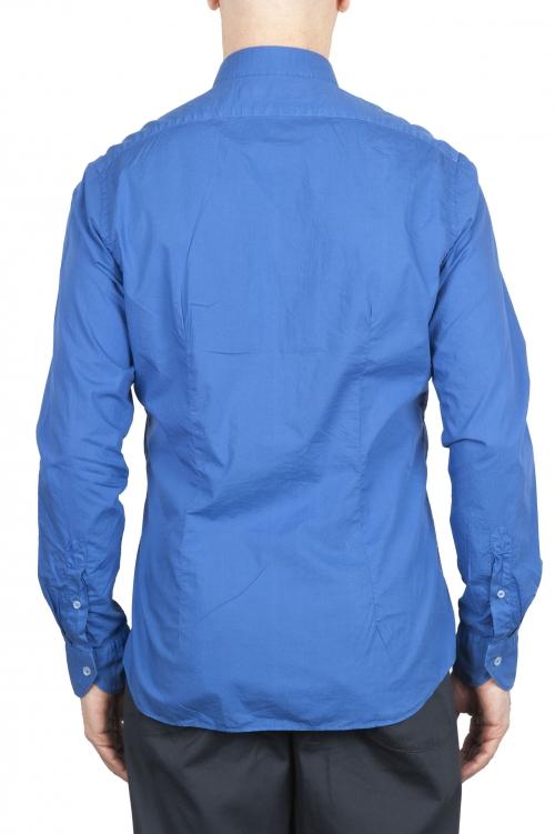 SBU 01611 Camicia in cotone super leggero blu Cina 01