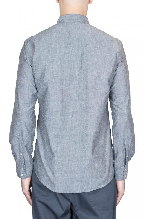 SBU 01613 Camicia western in cotone chambray grigia 01