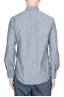 SBU 01613 Grey chambray cotton western shirt 05