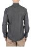 SBU 01614 Dark grey chambray cotton western shirt 05