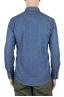 SBU 01616 Camicia western in cotone chambray indaco naturale 05