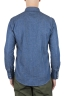 SBU 01616 Camisa western de algodón chambray índigo natural 05