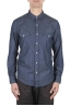 SBU 01617 Camisa western de algodón chambray puro índigo 01