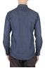 SBU 01617 Camisa western de algodón chambray puro índigo 05