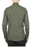SBU 01618 Camicia classica in lino verde 05