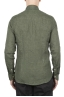 SBU 01618 Classic green linen shirt 05