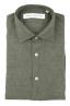 SBU 01618 Camicia classica in lino verde 06