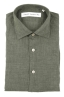 SBU 01618 Classic green linen shirt 06