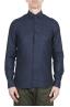 SBU 01619 Classic blue navy linen shirt 01