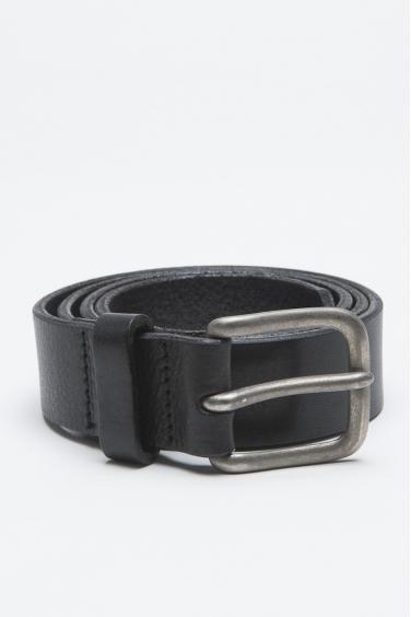 SBU - Strategic Business Unit - Cintura Classic In Pelle Di Vitello Nera Con Fibbia Di Metallo 3 Cm