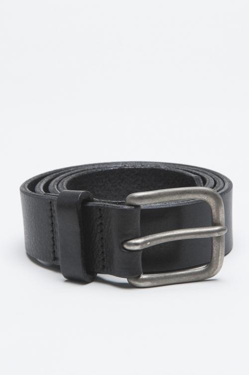 SBU - Strategic Business Unit - Classic Adjustable Buckle Closure Black Leather 1.2 Inches Belt
