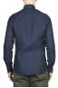 SBU 01619 Camicia classica in lino navy blu 05