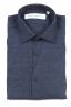 SBU 01619 Camicia classica in lino navy blu 06