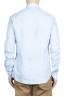 SBU 01620 Camisa clásica de lino azul claro 02