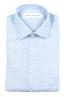 SBU 01620 Camicia classica in lino celeste 06