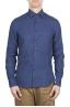 SBU 01621 Classic China blue linen shirt 01