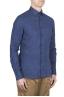 SBU 01621 Camisa clásica de lino azul de China 02