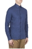 SBU 01621 Classic China blue linen shirt 02