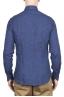 SBU 01621 Camisa clásica de lino azul de China 05