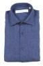 SBU 01621 Camisa clásica de lino azul de China 06