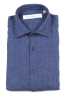 SBU 01621 Classic China blue linen shirt 06