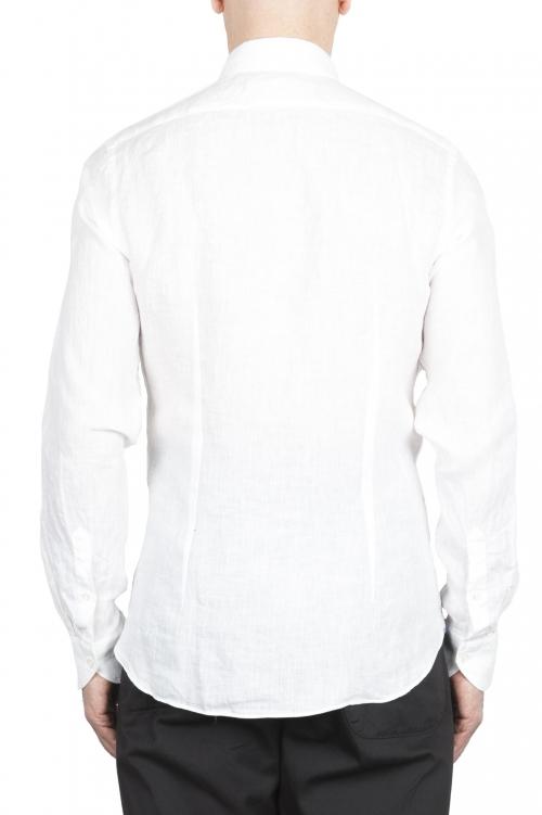 SBU 01622 Chemise en lin blanc classique 01
