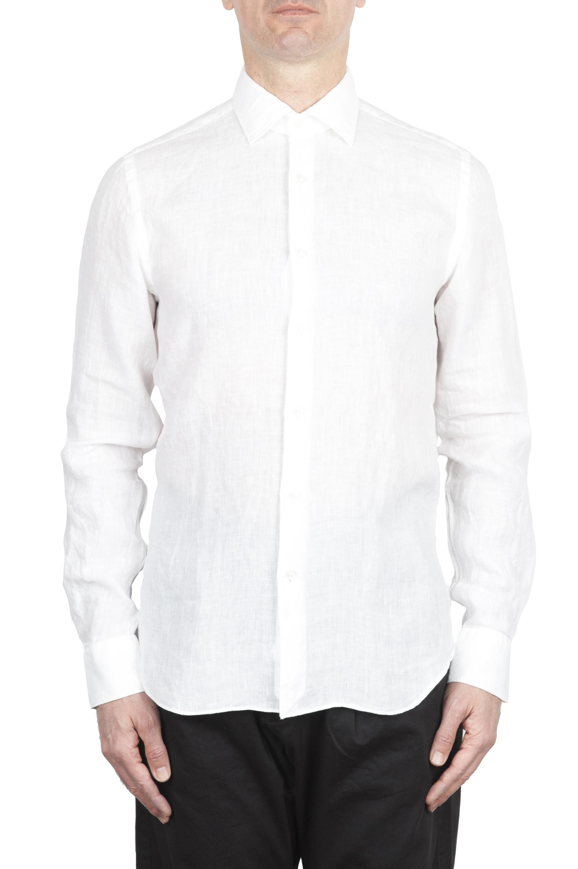 SBU 01622 Classic white linen shirt 01