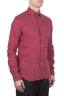 SBU 01623 Camicia classica in lino rossa 02