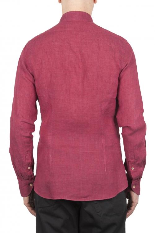 SBU 01623 Classic red linen shirt 01