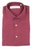 SBU 01623 Camicia classica in lino rossa 06