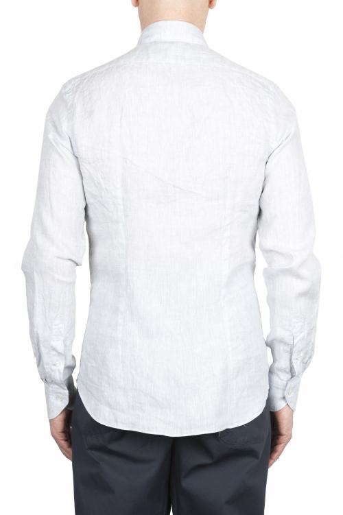 SBU 01624 Camisa clásica de lino gris perla 01