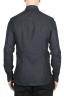 SBU 01625 Camicia classica in lino grigio scuro 05