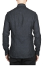 SBU 01625 Camisa clásica de lino gris oscuro 05