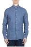 SBU 01626 Camisa clásica de lino azul 01