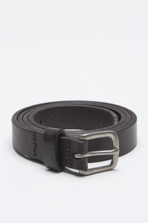 SBU - Strategic Business Unit - Classic Adjustable Buckle Closure Brown Leather 1 Inch Belt