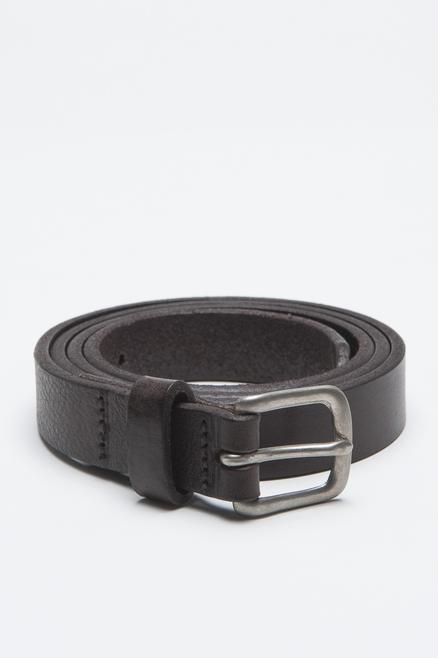 SBU - Strategic Business Unit - Classic Adjustable Buckle Closure Brown Leather 1 Inch Belt