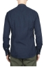 SBU 01631 Camisa clásica de algodón índigo de cuello mao 05