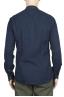 SBU 01631 Classic mandarin collar indigo cotton shirt 05