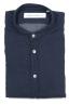 SBU 01631 Camicia classica con collo coreano in cotone indaco 06