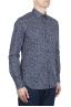 SBU 01632 Camisa de algodón estampado floral azul 02