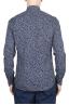 SBU 01632 Camicia fantasia floreale in cotone blu 05