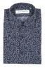 SBU 01632 花柄プリントブルーコットンシャツ 06