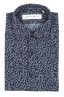 SBU 01632 Camicia fantasia floreale in cotone blu 06