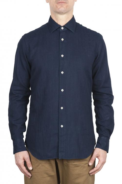 SBU 01633 ピュアインディゴ染めクラシックコットンシャツ 01