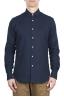 SBU 01633 Camisa de algodón clásico teñido añil puro 01