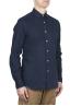 SBU 01633 Camicia classica in cotone tinta con puro indaco 02