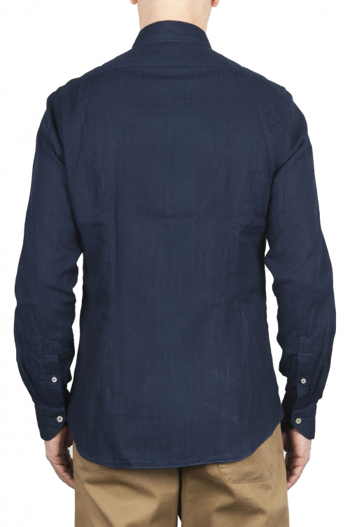 SBU 01633 Pure indigo dyed classic cotton shirt 01